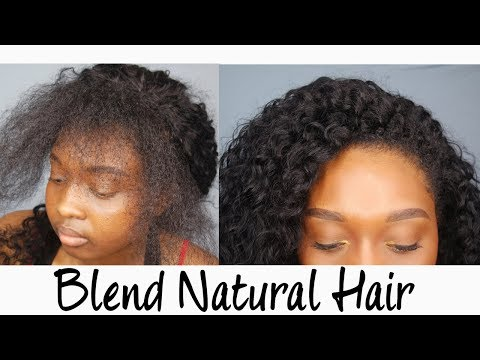 Blending My Natural Hair With Curly Weave! | Sunber Hair