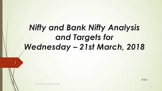 Download video Nifty and BankNifty Trading Levels for 21 Mar 2018