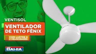 Ventilador de Teto da VENTISOL, ambiente refrescante e elegante com um só produto | Casas Bahia