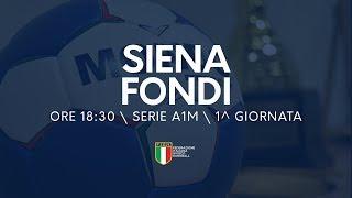 Serie A1M [1^ giornata]: Siena - Fondi 30-30