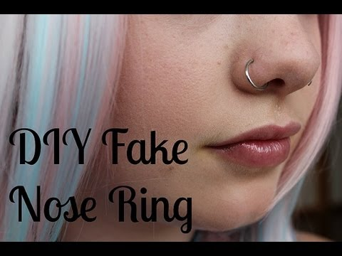DIY How to Make a Fake Nose Ring - YouTube