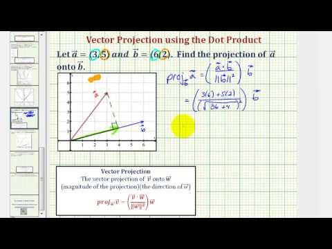 Vector projection khan