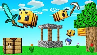 MINECRAFT But We're Playing As BEES!