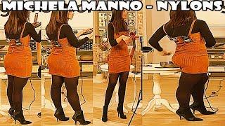 Michela Manno FullHD Nylons Pantyhose Collant Strumpfhose on QVC Italia