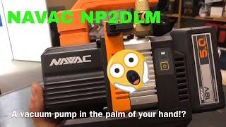 The Navac NP2DLM Battery Powered Vacuum Pump