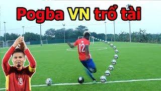 Thử Thách bóng đá sút xoáy như Quang Hải với Paul Pogba phiên bản U23 Việt Nam