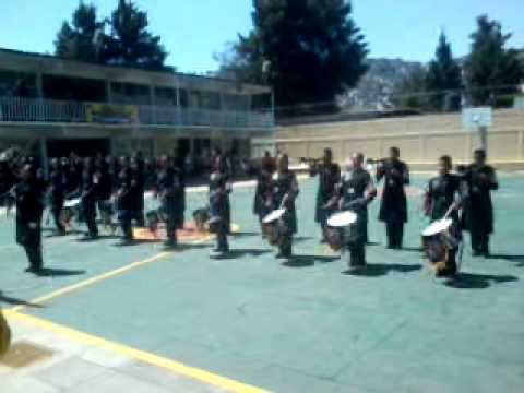 banda de guerra castores de la escuela secundaria 261.