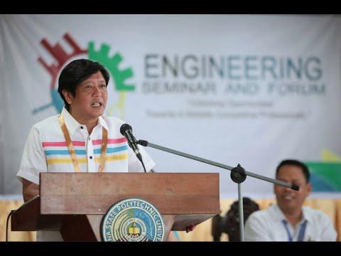 Sen. Bongbong Marcos - Campus tour at Laguna State Polytechnic University