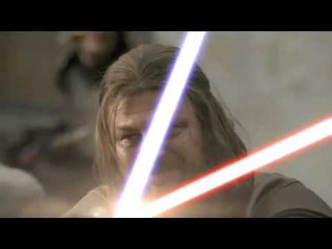 Jaime Lannister vs. Eddard Stark Lightsaber Duel +John Williams Score