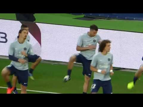 PSG - ASSE : David Luiz - Zlatan Ibrahimovic