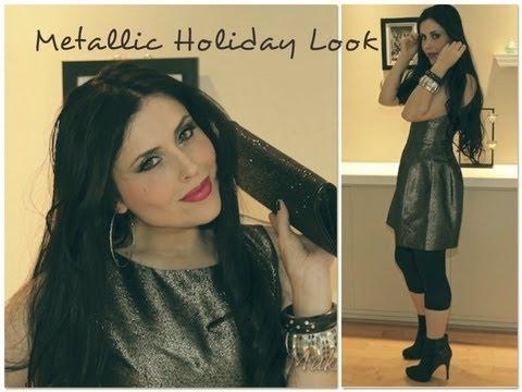 Metallic Holiday Look