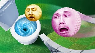 GOLFING INTO A GIANT TOILET?!   Golf It [Ep 13]