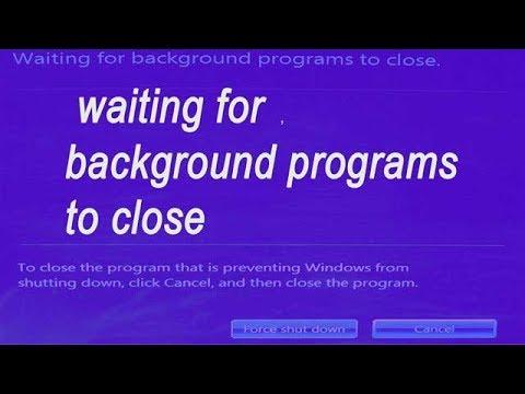 Сообщение об ошибке фиксации Ожидание закрытия фоновых программ