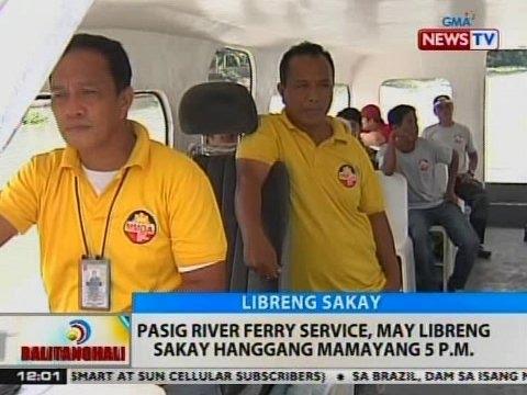BT: Pasig River Ferry service, may libreng sakay hanggang mamayang 5pm