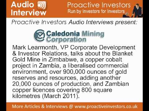 Mark Learmonth of Caledonia Mining talks to Proactive Investors