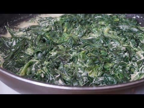 ШПИНАТ, как приготовить шпинат.Идея обеда/Fresh spinach with cream