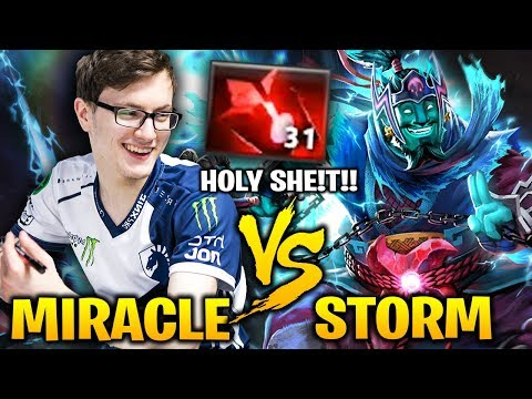MIRACLE vs CRAZY STORM SPIRIT: 31 Blood Stone Charges Holy Sh!et!!
