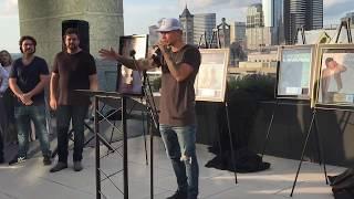 "Download Lagu Kane Brown celebrates No. 1 song ""Heaven"" on Nashville rooftop Gratis STAFABAND"