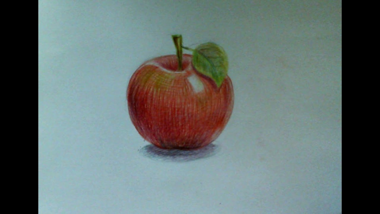 How To Draw An Apple Watercolor Pencils