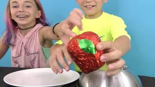 We Are The Davises! CHOCOLATE VS REAL FOOD CHALLENGE