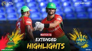 Extended Highlights | Guyana Amazon Warriors vs Barbados Royals | CPL 2021