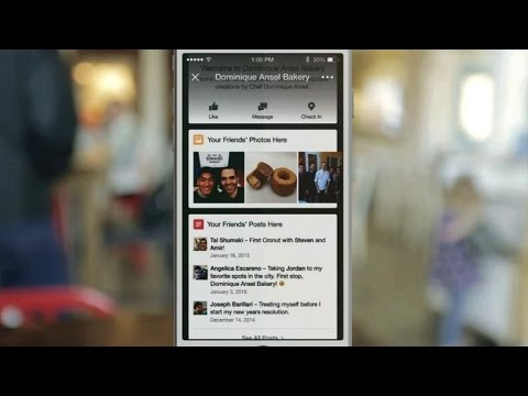 CNET Update - Facebook using beacons to show location tips