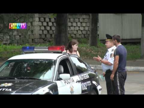 Polițist exemplar pe strada Vasile Lupu, Chișinău