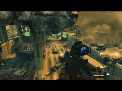 Black Ops 2 - GAMEPLAY Singleplayer Campaign Protect POTUS Mission (Call of Duty COD BO2 Official HD