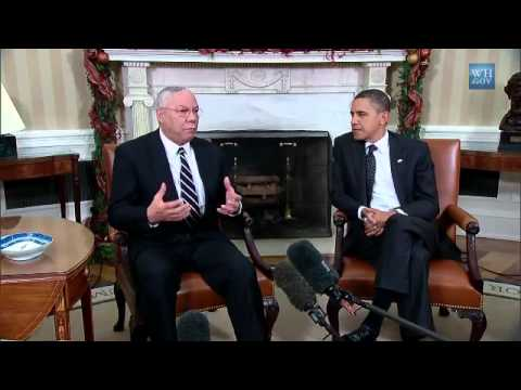 President Obama Meets with General Colin Powell