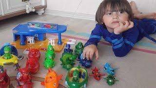 Pijamaskeliler yeni oyuncaklar ve Pj masks yeni araçlar açtık, oynadık | Oyuncak videoları