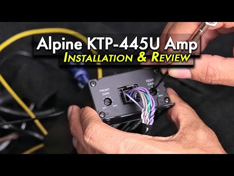 Alpine KTP-445U Installation and Review in a 2017 WRX & Under Seat Amp Relocation