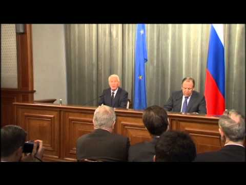 Russia - Europe Talks: Russian diplomat Lavrov meets with Council of Europe