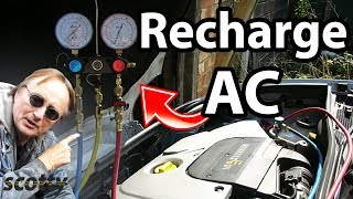 How to Recharge Car AC System (Refrigerant)