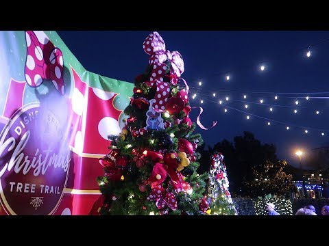 Disney Holiday Date Idea!   Christmas Tree Trail & Holiday Decorations At Disney Springs!