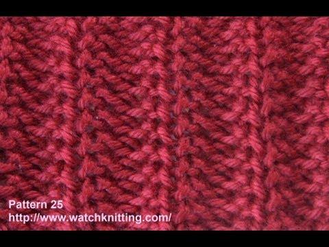 Jerseys stitch- Free Knitting Tutorials - Watch Knitting - pattern 25 - YouTube