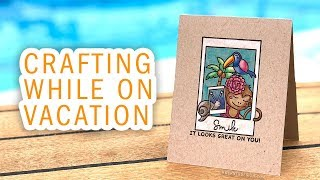 TRAVEL VLOG - Crafting on a Cruise! What did I pack?