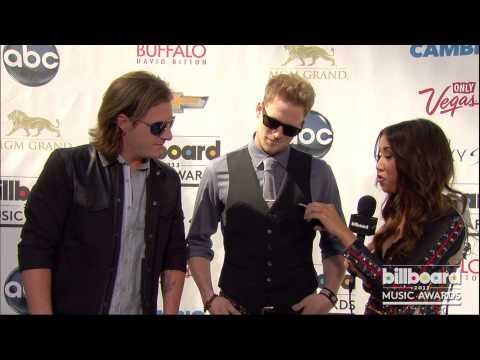 Florida Georgia Line on the Billboard Music Awards Blue Carpet 2013