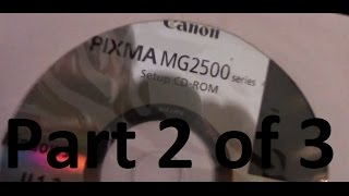 Professor V's Cannon Printer Pixma MG2520 SCANNER Setup Part 2 of 3