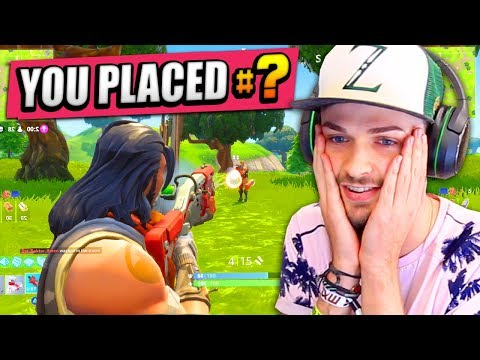 My FIRST TIME playing FORTNITE: BATTLE ROYALE! - (RANK #1?)