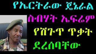 Ethiopia : የኤርትራው ጄኔራል ስብሃት ኤፍሬም ትናንት የሽጉጥ ጥቃት ደረሰባቸው VOA