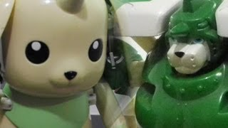 Digimonデジモンtoy-Warp Digivolving Terriermonテリアモン to MegaGargomonセントガルゴモン-figure review[720p]