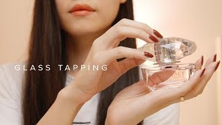 ASMR Glass Perfume Bottle Tapping & Lid Sounds (No Talking)
