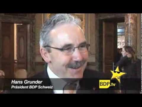 BDP Präsident Hans Grunder zur Fraktionsstärke seiner Partei.