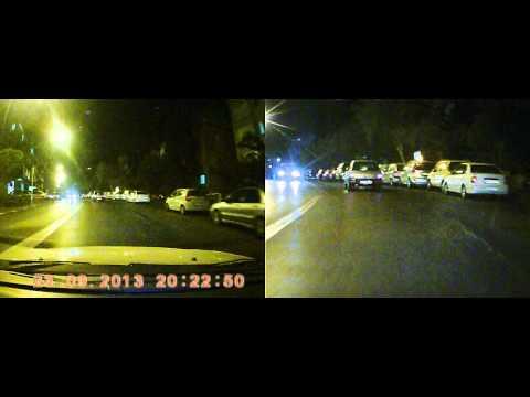 Car DVR F30 Dual Lens . Night test .