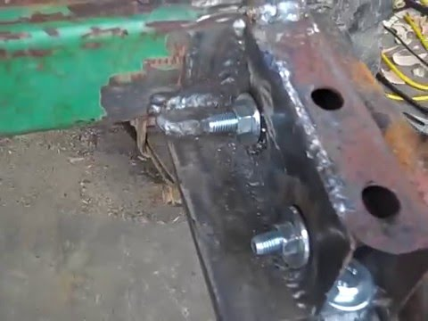 Rust Repair On My Truck Frame Youtube