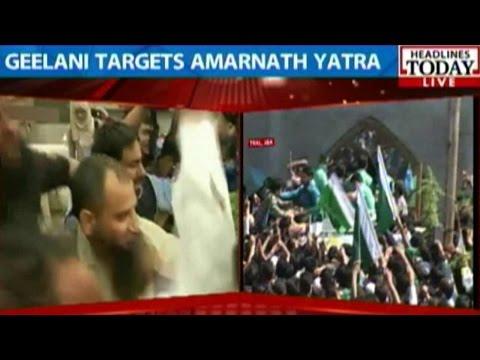 Geelani Targets Amarnath Yatra During Address In Tral