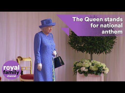 'God Save the Queen' played by military band for the Queen