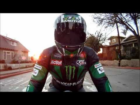 Motorcycle Leather Jacket. Moto GP Style. Monster Edition. GoPro 960 HD Video Test. VLOG