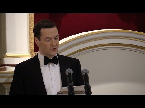 Chancellor George Osborne speaks at the Mansion House on 10 June 2015