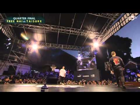 Taisuke vs Free Nai - Top 8 - Red Bull BC One 2013 Asia Pacific Qualifier